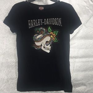 Harley-Davidson 2009 Sequins 100% Cotton t-shirt